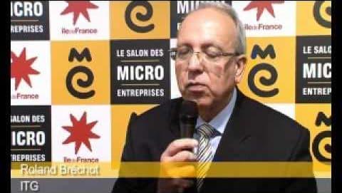 Roland Bréchot présente ITG au Salon des micro-entreprises