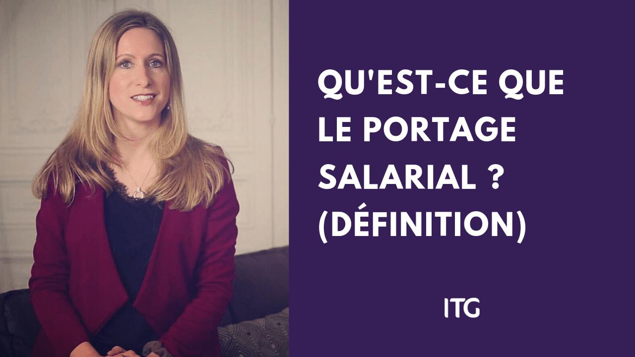 Vidéo explication définition portage salarial