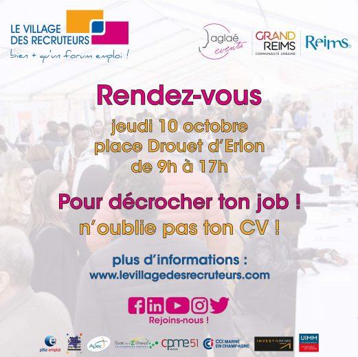 Le village des recruteurs (Reims)