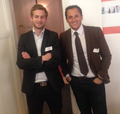 Stephane Boukris et Baptiste Broughton lors de l'Afterwork ITG du 14 mai 2014