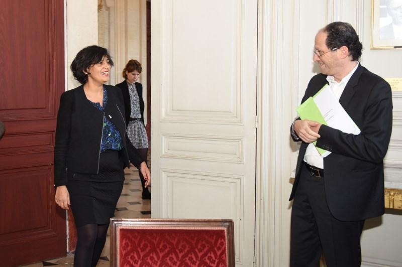 Myriam El Khomri et Patrick Levy-Waitz