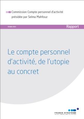 compte personnel d'activité - rapport France Stratégie